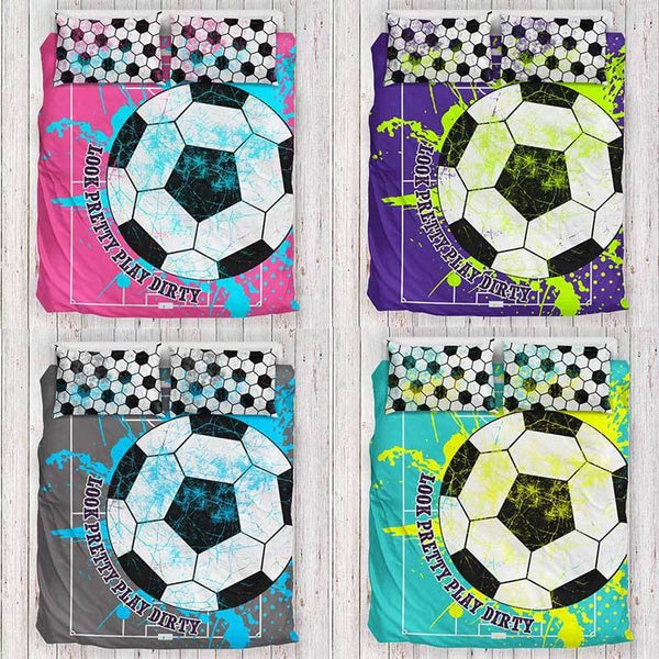 girls soccer bedding | soccer bedding | soccer duvet cover | soccer bedding sets