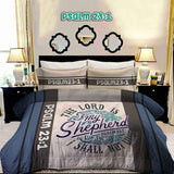 Bible Verse Bedding | Scripture Bedding | Psalm 23:1 Duvet | religious bedding