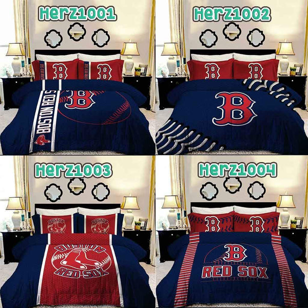 Boston Baseball Bedding Set All Design