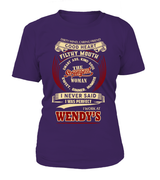 Wendys-I never said I was perfect-Wendy's woman shirt