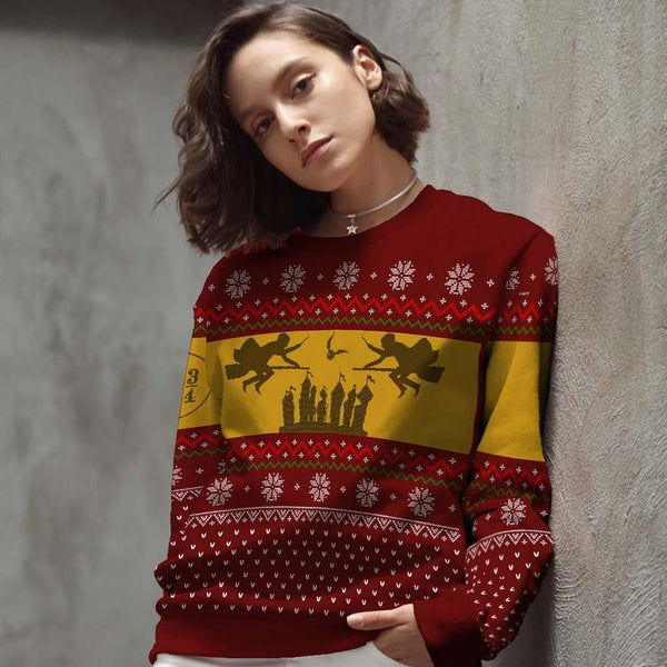 harry potter christmas sweater | harry potter ugly christmas sweater | harry potter gryffindor sweater | ugly harry potter christmas sweater