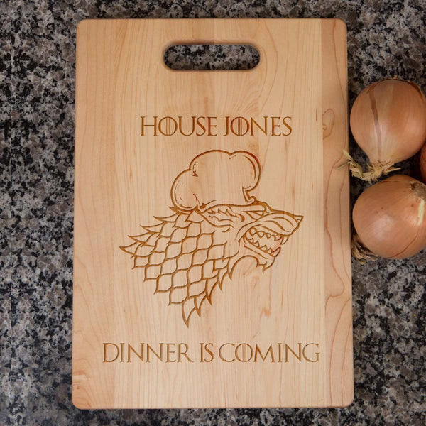 dinner is coming cutting board | game of thrones cutting board | game of thrones chopping board | winter is coming cutting board
