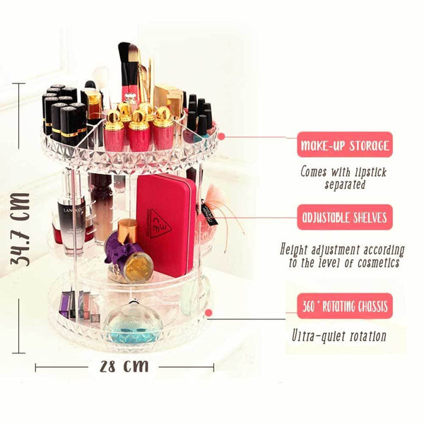 large makeup organizer | makeup storage | makeup storage ideas | make up organizer | acrylic makeup storage | acrylic makeup organizer | makeup organizer