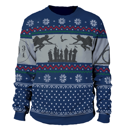 harry potter ugly christmas sweater ravenclaw - Harry Potter Ugly Christmas Sweater