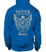 Never underestimate the power of a man who works at Boots | Boots Shirt