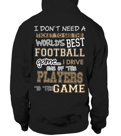 Football mom-I drive one of the players to the football game