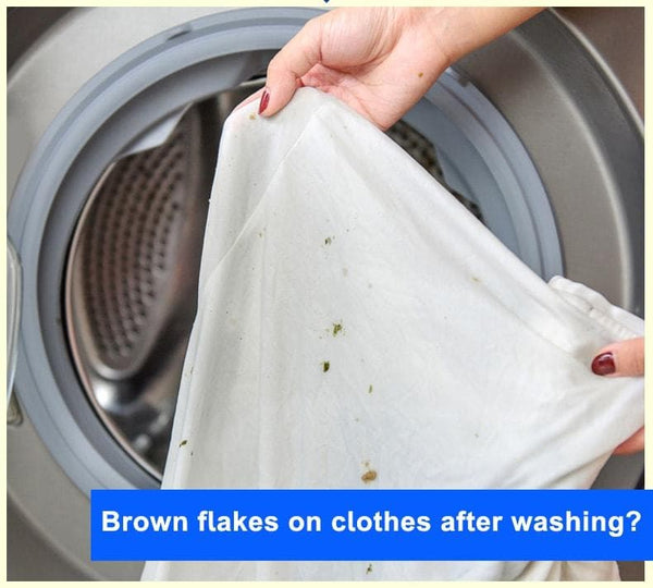 brown flakes in washing machine | black flakes in washing machine | scrud in washing machine