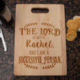 The Lord is with Me Personalized Cutting Board