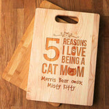 cat cutting board | cat mom | cat mom gifts | mothers day cat gifts | cat mom cutting board