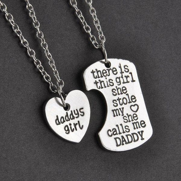 Dad-2Pc/pair Daddy & Daddy's Girl Necklace