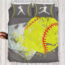 Softball Bedding Set Gray Series
