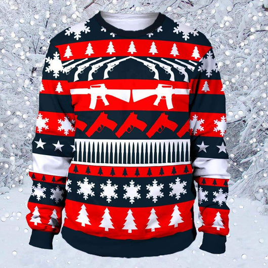 Second amendment ugly christmas sweater – Herzoge