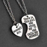 Mommy Daddy Grandpa Grandma's Girl Necklace