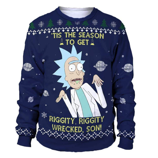 rick and morty ugly christmas sweater | rick and morty ugly sweater | rick and morty christmas sweatshirt | rick and morty xmas sweater | rick and morty holiday sweater
