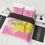 Softball Bedding Set Pink Series