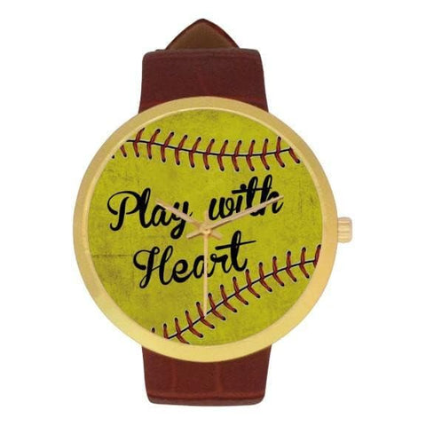 Play With Heart Softball Watch | Softball Watch