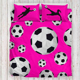 soccer bedding | girls soccer bedding