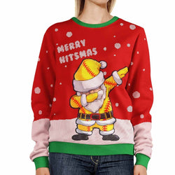Softball Ugly Christmas Sweater | Softball Christmas Sweater | Softball Ugly Sweater
