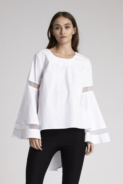 Riss Mesh Sleeve Top