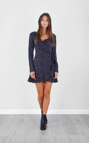 Eloquence Polka Dot Ruffle Dress
