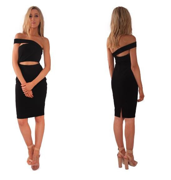 Up Town Funk Dress in Black