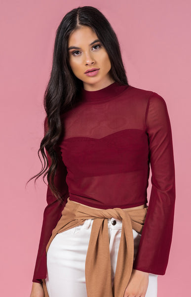 Open Sleeve Mesh Top