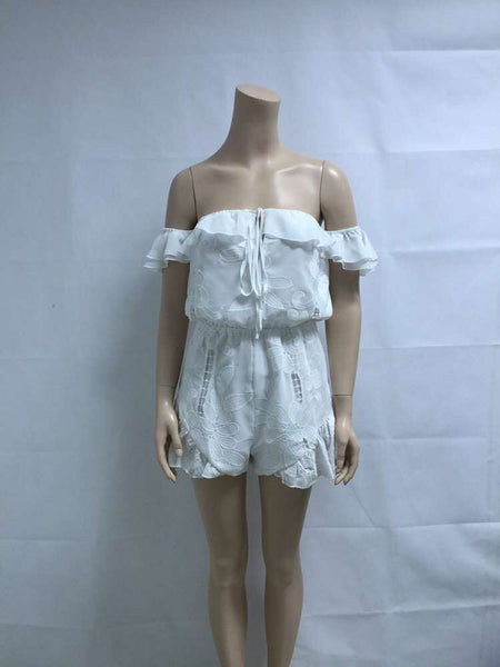 Lacey Goddess Playsuit in White