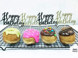 'Happy Birthday' DONUT TOPPER