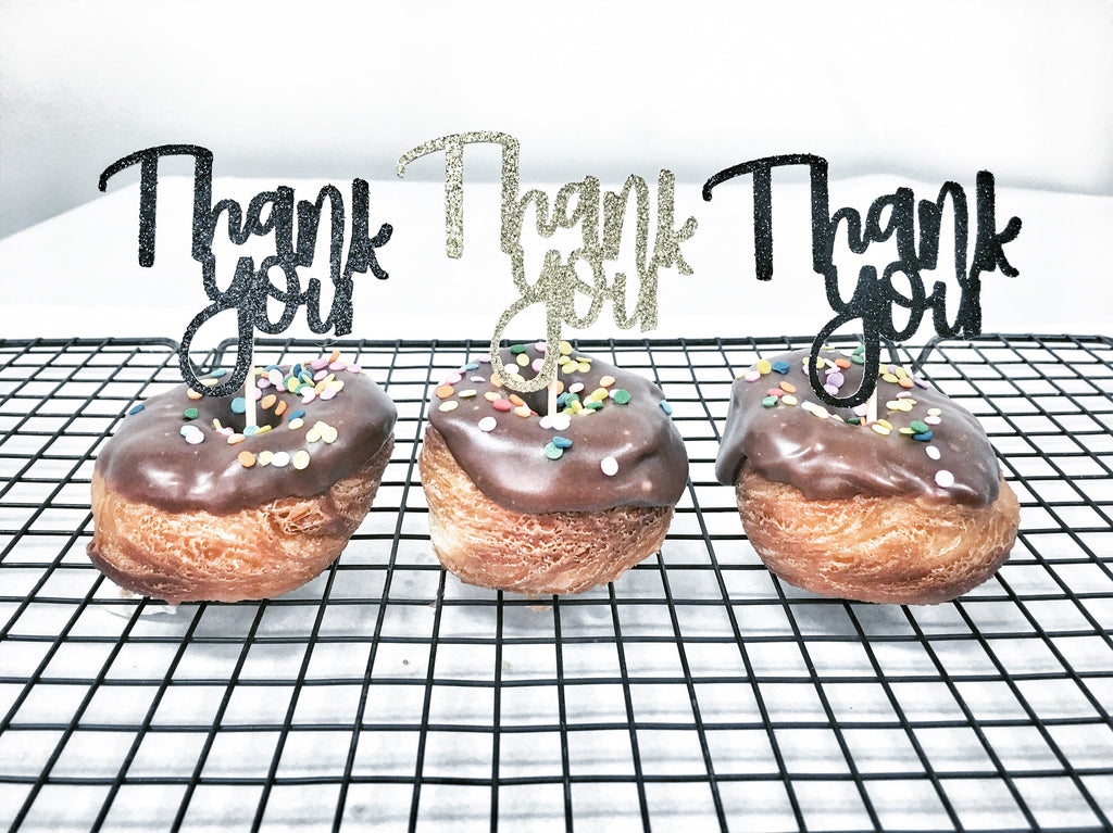 'Thank You' DONUT TOPPER