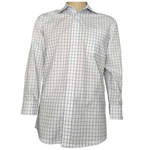 Men's Shirts - Magnetic Snap Shirt in Blue Check - Dexterity Brand