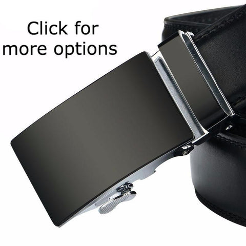 Men's Belt - Matt Black Silver - Seven Options - Dexterity Brand
