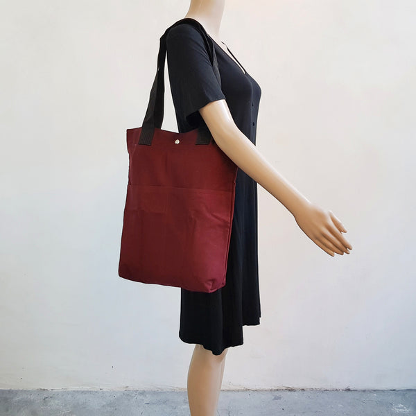 Canvas Tote 004 - Red Wine