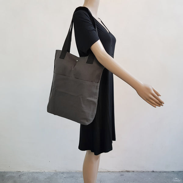 Canvas Tote 004 - Gray