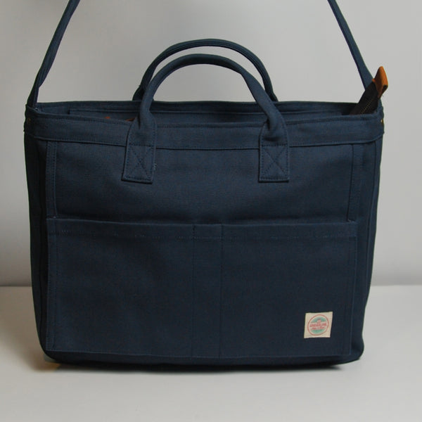 Canvas Messenger Bag 008 - Navy