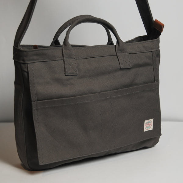 Canvas Messenger Bag 008 - Gray