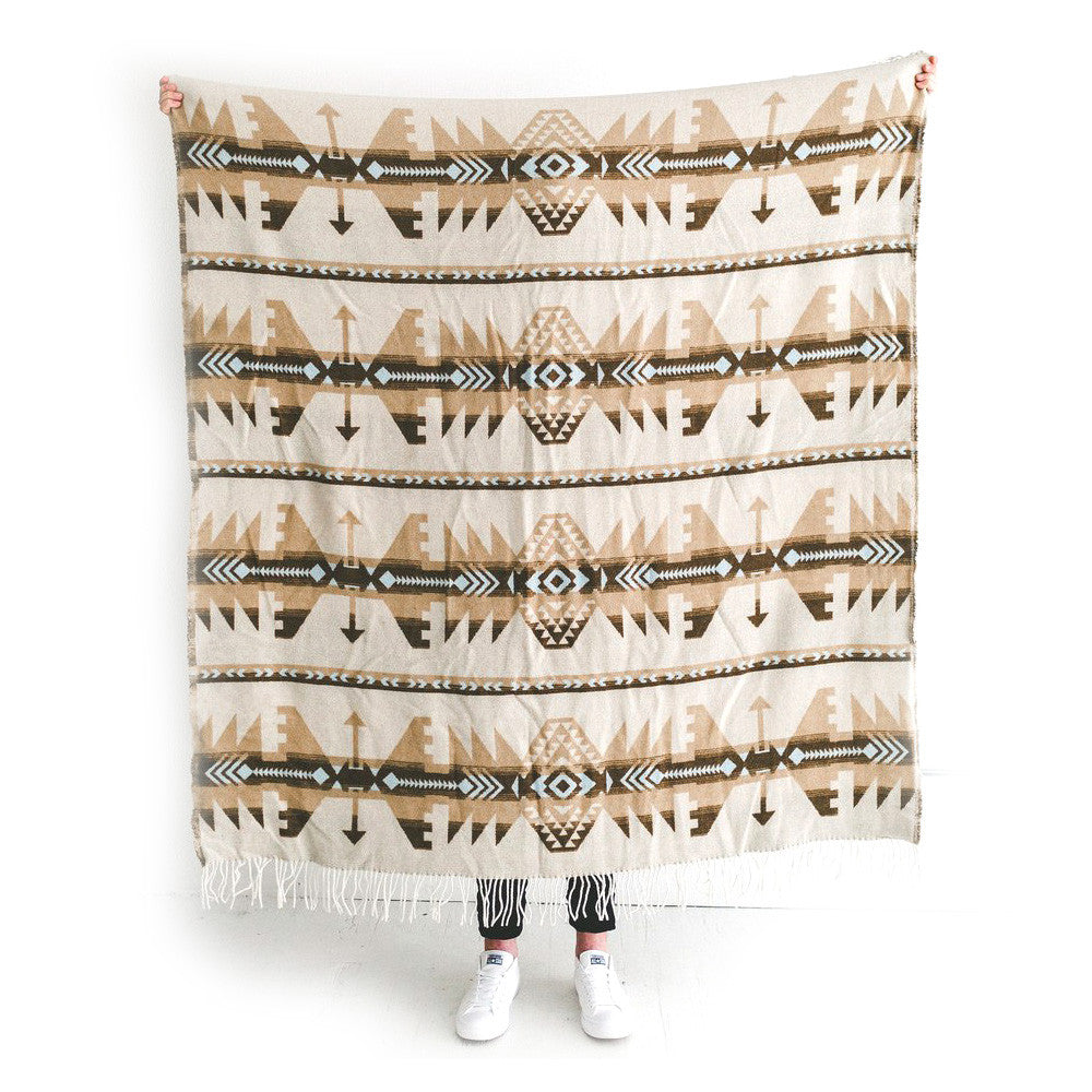 Sackcloth & Ashes Arrow Blanket Beige