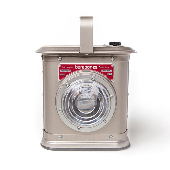 Barebones Living Canyon Lantern Satin Nickel