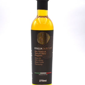 Italia Tartufi - Olive Oil with Black Truffle Flavoring 9.12 fl oz (270 ml) Product of Italy