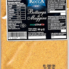 Rocca Bottarga grated Mullet in pouch 1.76 oz [50g] The Finest From Sardinia Italy