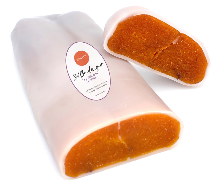 So'Boutargue Kosher Bottarga Made in France - Infused With Boukha fig liquor - Beeswax Coat