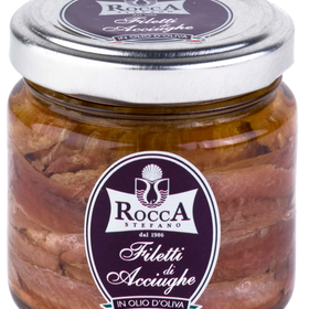 Fillets of anchovies in olive oil in jar 3.74 oz / 106g the finest from Sardinia Italy - Duke's Gourmet