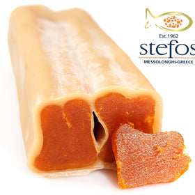 "Bottarga Stefos from Greece ""The Art of Seafood"" Traditional Kosher Bottarga Stefos BROS & Co ± 3.5 oz Beeswax Coated - Duke's Gourmet"