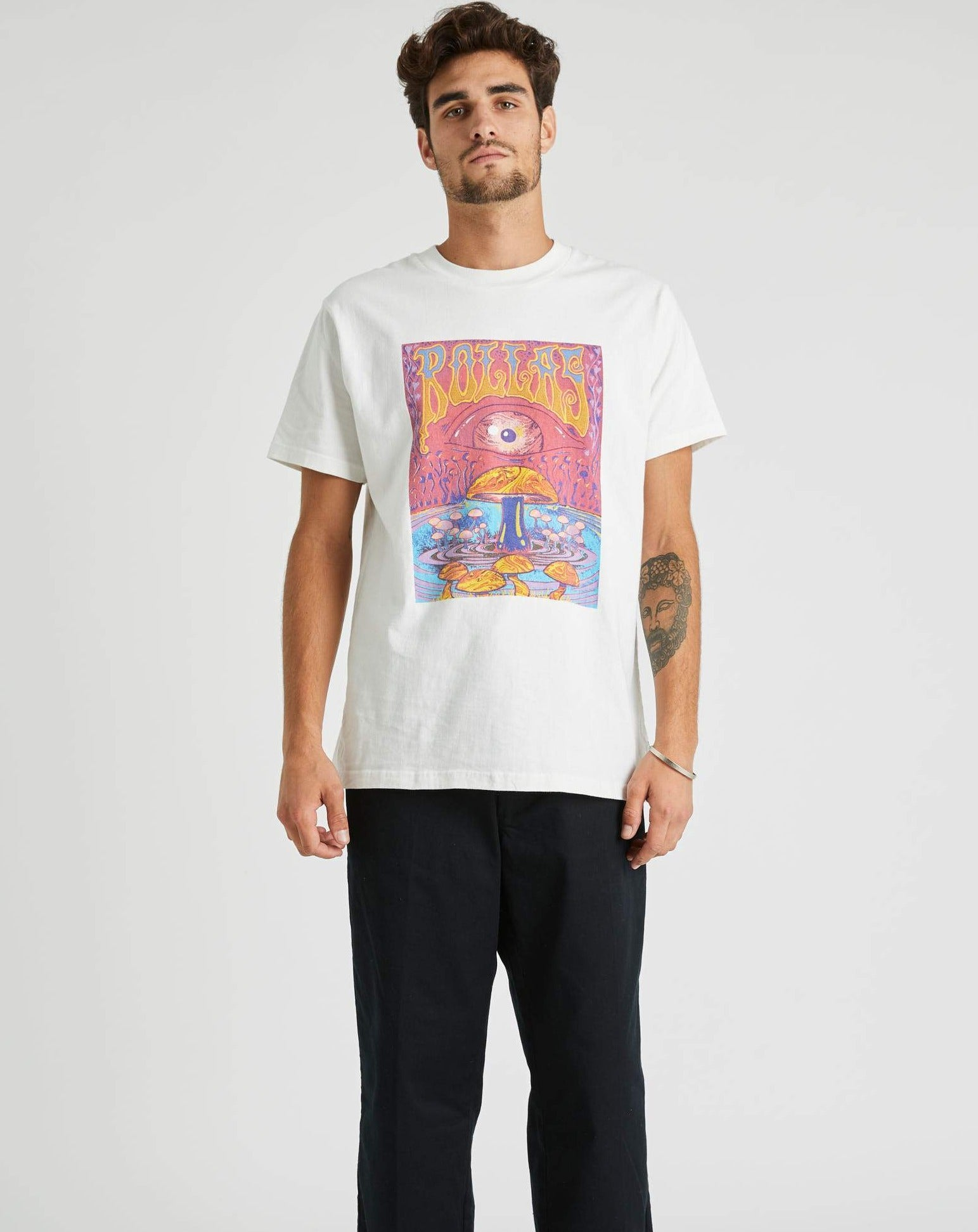 Old Mate Shroom Tee White