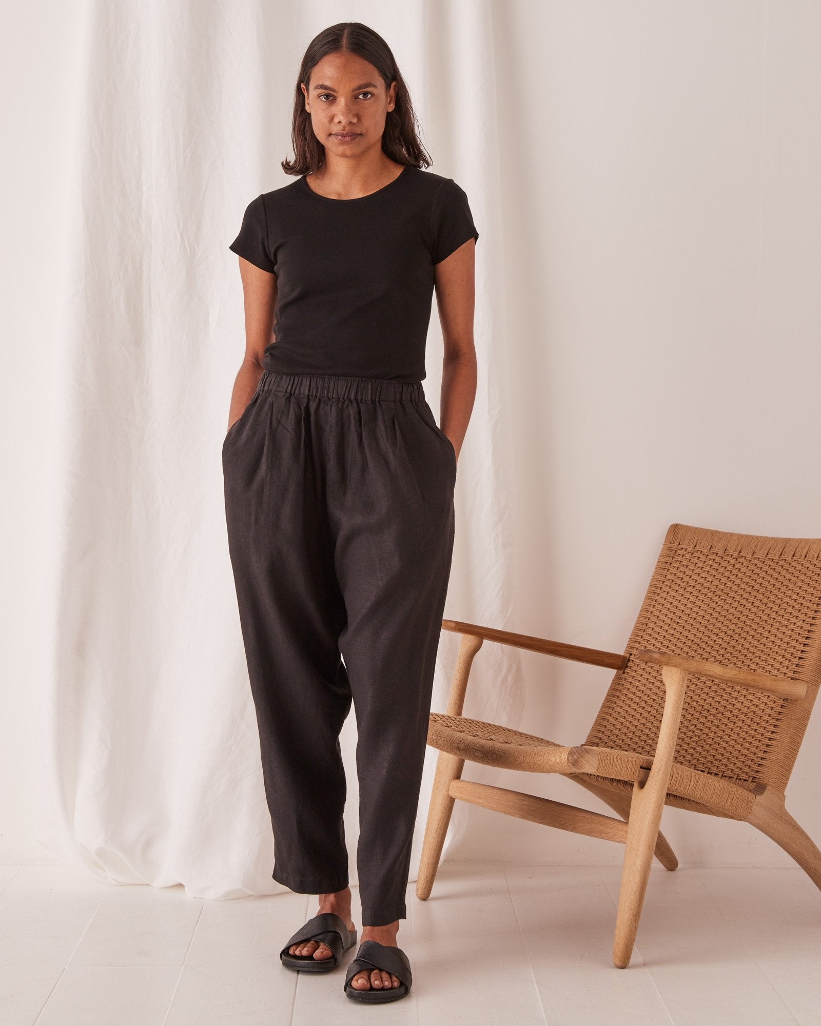 Assembly Noma Linen Pants Black