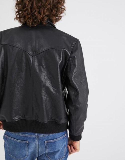 Heroes Leather Jacket Mens Black