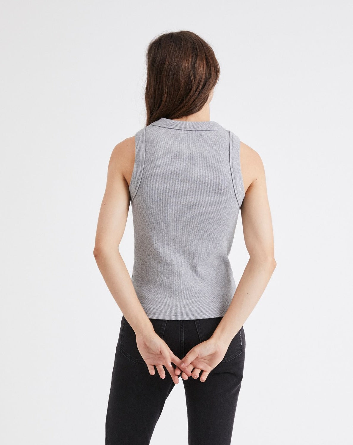 Jonesy Singlet Grey Marle