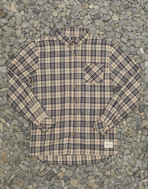 Boatyard Shirt Stone Navy Check