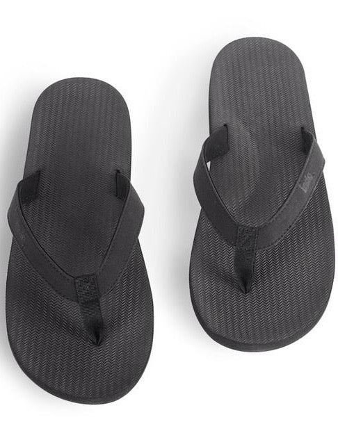 Indosole Essentials Thong Black Mens