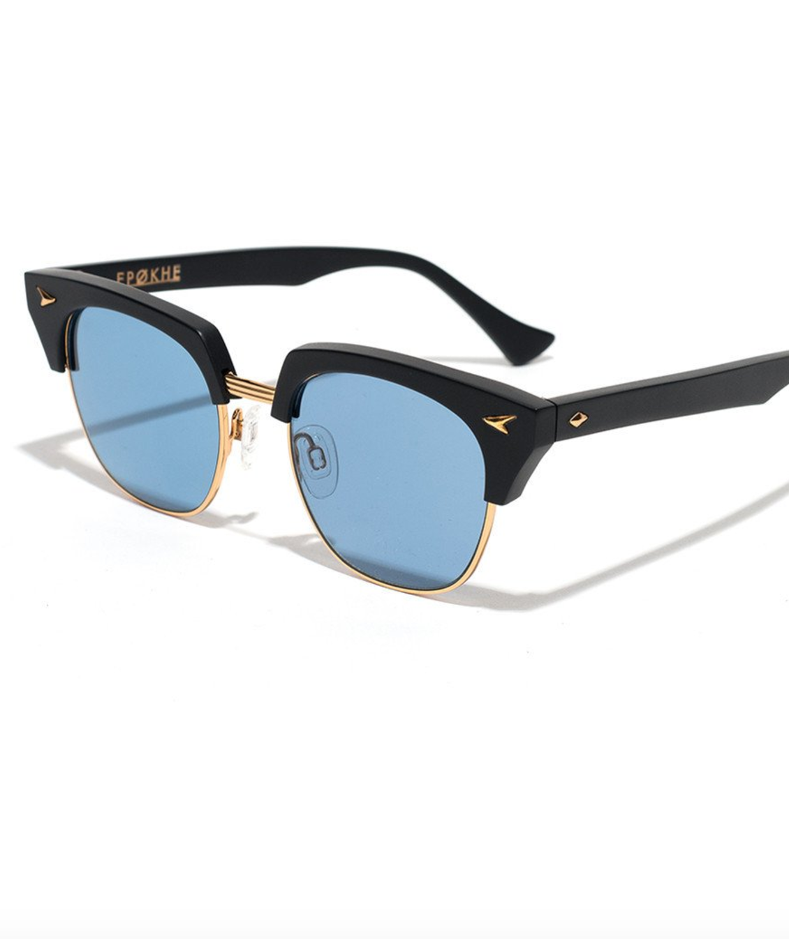 Neto Black Matte & Gold / Blue Lens