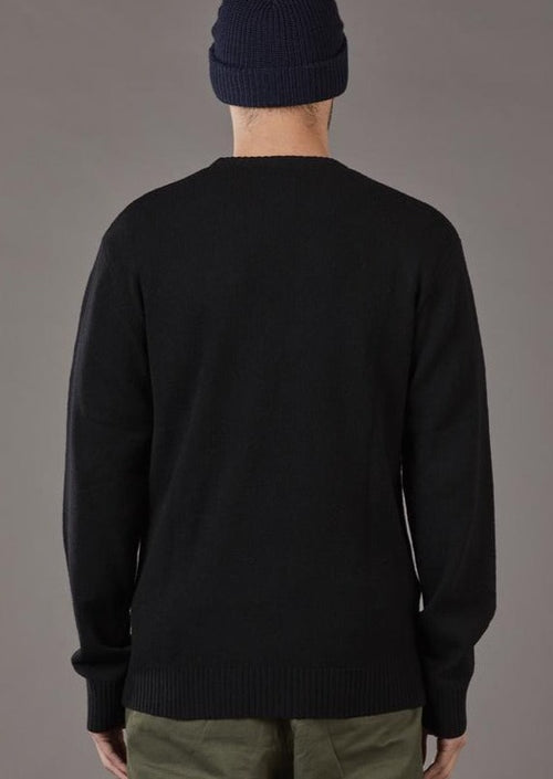 Merino Sea Crew Black